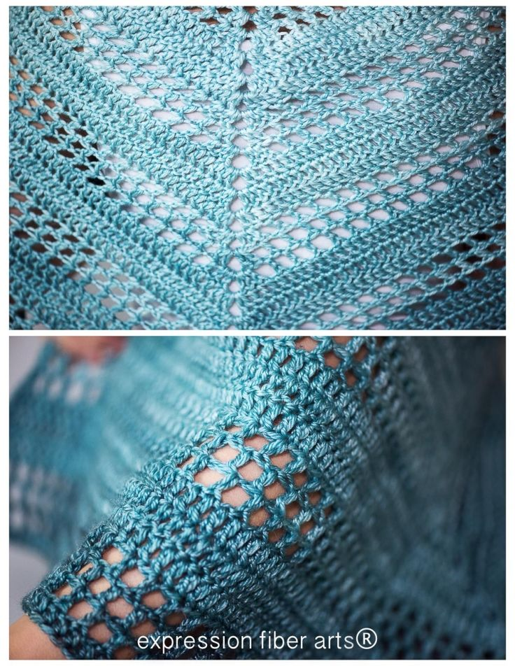 teal tenacity crochet shawl pattern by expression fiber arts