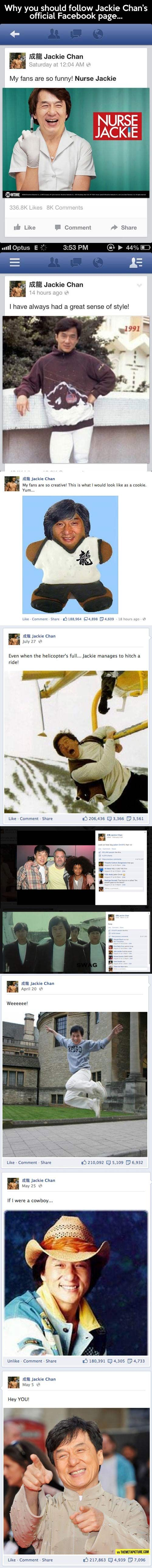 Why you should follow Jackie Chan…