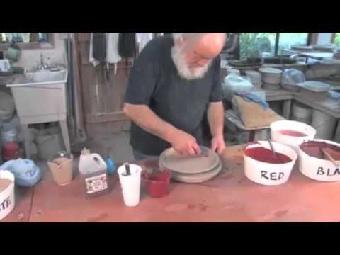In this pottery video, potter Robin Hopper shows how to use mocha diffusion and other slipware techniques. See our entire pottery video archive at http://cer...
