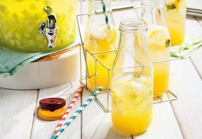 Cocktail sans alcool ananas, érable et citron