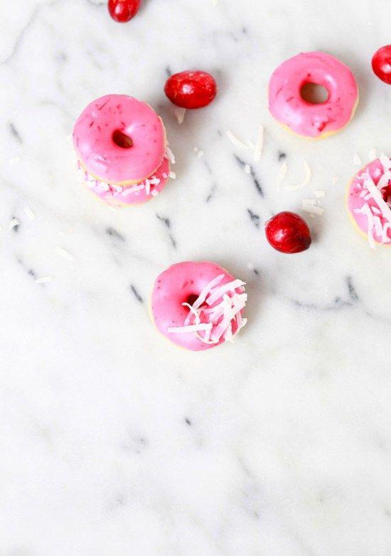 Cranberry & Coconut Mini Donuts   Posh Little Designs