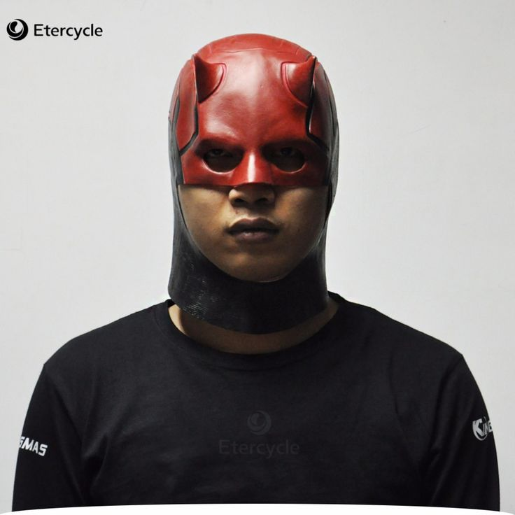 Daredevil Masks Marvel Toys Movie Cosplay Collectible ToysCostume Prop Men's Latex Party Mask for Halloween