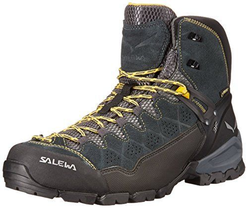 Salewa Mens Alp Trainer Mid GTX Boots Carbon  Ringlo 7  ETip Glove Bundle -- Check out the image by visiting the link.