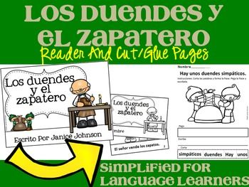 Los duendes y el zapatero Spanish Elves & the Shoemaker Reader ~ Simplified for Language Learners