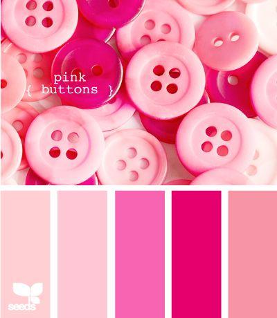 Paleta de colores combinaciones con el color rosa - Gama de colores rosas ...