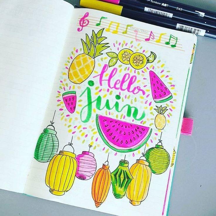 """46 Likes, 18 Comments - @mesjolisgrigris on Instagram: """"Mon mois de juin sera coloré comme j'aime  #bujocommunity…"""""""
