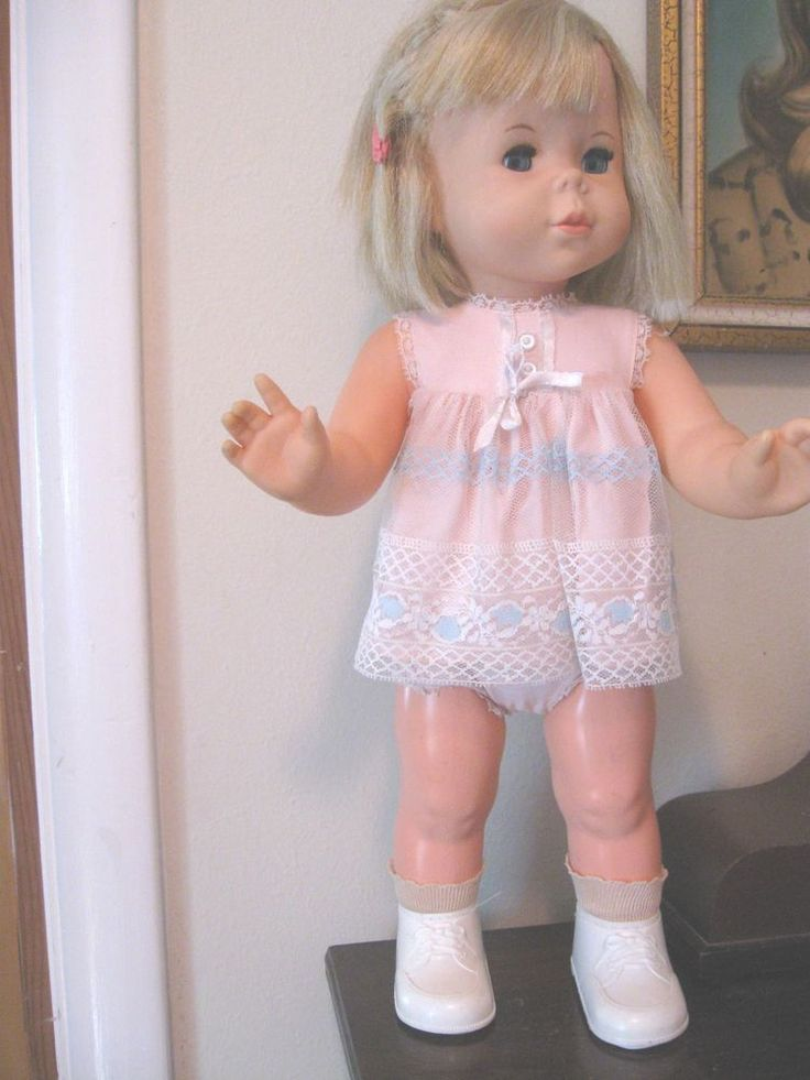 Vintage 1964 Baby First Step Doll Original Outfit Baby