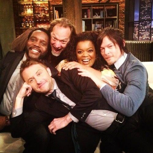 Greg Nicotero with Walking Dead cast and Talking Dead host Chris Hardwick #thewalkingdead
