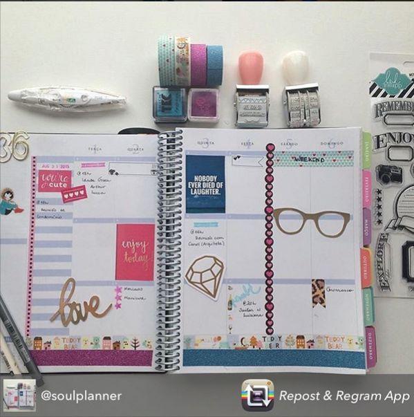 Que delícia começar o mês assim. É motivador e inspirador... #meudailyplanner #objetivos #coaching #planner