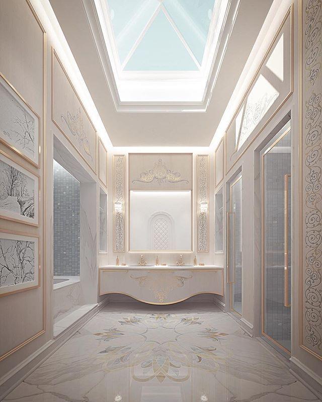 Master bathroom design - Abu dhabi private palace- UAE