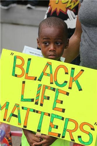 black life matters...response to the Zimmerman verdict...at a protest.