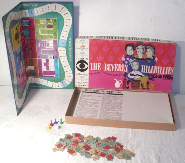 STANDARD TOYKRAFT BEVERLY HILLBILLIES CBS TV SHOW BOARD GAME COMPLETE 1960s  #STANDARDTOYKRAFT