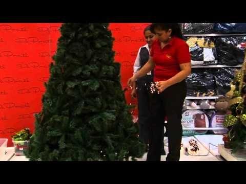 Decoraci n de rboles de navidad parte 1 como peinar el - Como poner el arbol de navidad ...