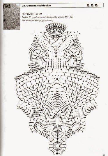 Kira crochet: Crocheted motif no. 331