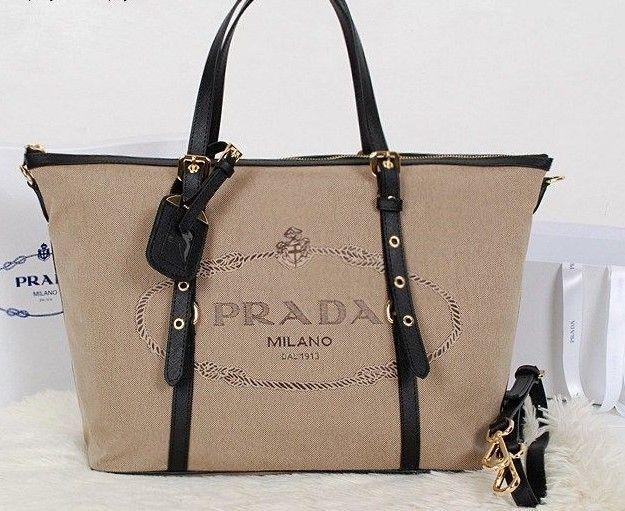 2014 Latest Prada Jacquard Nylon Fabric Tote Bag black,Prada bags 2014