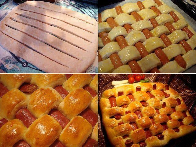 Puff pastry and sausage