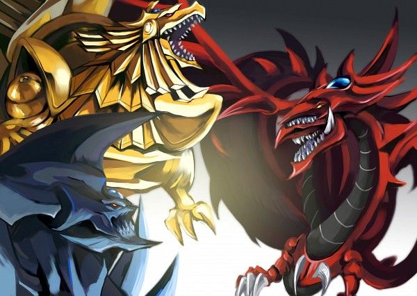 Obelisk The Tormenter -  Slifer The Sky Dragon - The Winged Dragon Of Ra