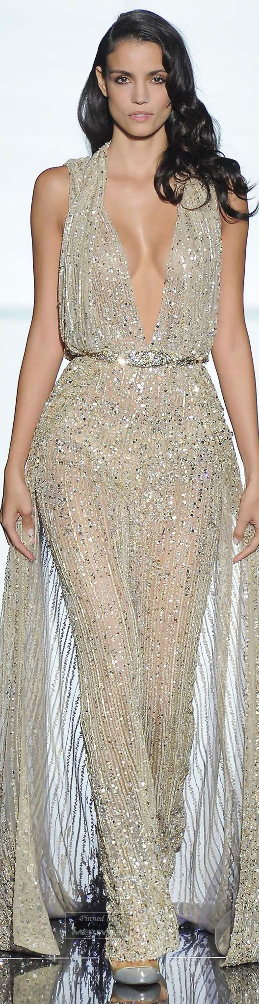 Zuhair Murad.Spring 2015 Couture. I can see Jennifer Lopez in this. It still shows a lot of skin, but it's actually more covered up than she usually wears. I wish she would try to dress a bit less sexy. You can still show off your amazing body without actually being practically naked.