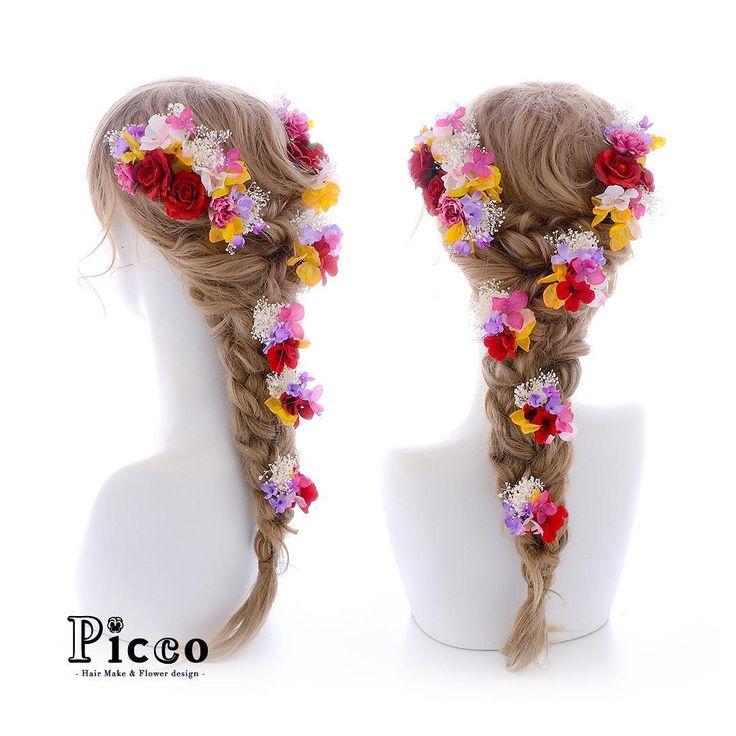 .  Gallery 520  . 【 結婚式 #髪飾り 】 . #Picco #オーダーメイド髪飾り #カラードレス #結婚式 . 小ぶりレッドのローズをメインに、ドレスのお色に合わせた小花とかすみ草で盛り付けたラプンツェル風仕上げです。✨ イエロー×ピンク×パープルの三色が魅力的な作品です . . #三色 #カラフル #ラプンツェル #ドレス #ウェディングヘア . デザイナー @mkmk1109 . . . #ヘッドパーツ #ヘッドアクセ #ヘッドドレス #花飾り #造花 #カラードレス #披露宴 #パーティー #プレ花嫁 #花嫁 #ウェディングフォト #結婚式前撮り #結婚式準備 #ディズニー #プレ花嫁 #ウェディング #ウェディングアイテム #ブライダルフォト #ウェディング小物  #rapunzel #princess