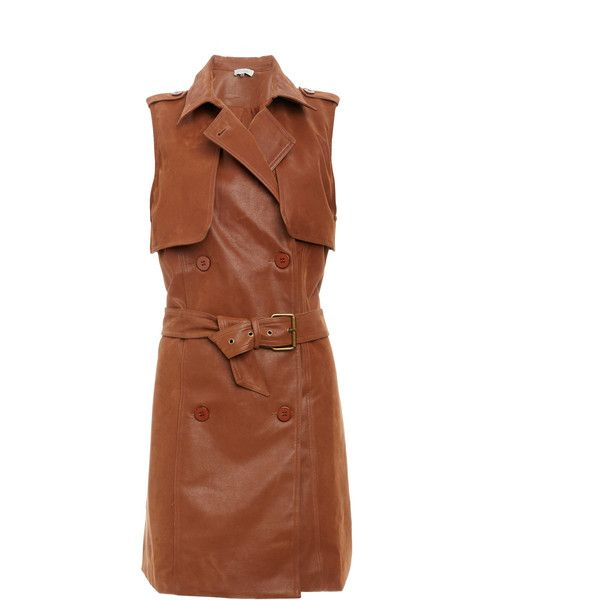 Voyager Trench Vest ($135) ❤ liked on Polyvore featuring outerwear, vests, tan, vest trench coat, brown vest, trench coat, trench vests and brown trench coat