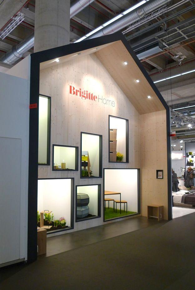 Brigitte und Jan Kurtz Messestand    interesting display/exhibit design #exhibit #custombooth #eventprofs