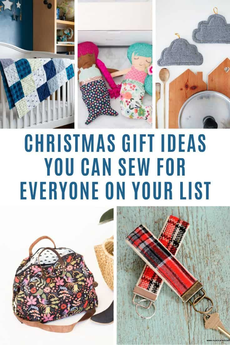 25 Sewing Christmas Gift Ideas For Everyone On Your List Sewing Christmas Gifts Diy Sewing Gifts Diy Christmas Gifts Sewing
