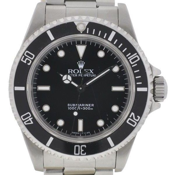 Pre-Owned Rolex Submariner Stainless Steel Watch 14060 (74 555 ZAR) ❤ liked on Polyvore featuring men's fashion, men's jewelry, men's watches, mens stainless steel watches, rolex mens watches and pre owned mens rolex watches