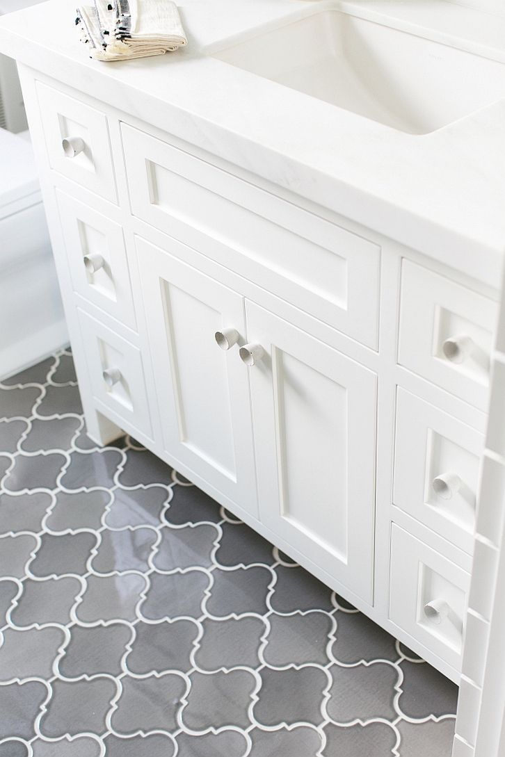 Pin By Brooke Larson On Home Grey Bathrooms Bathroom Flooring