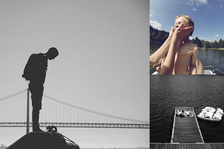 O que procura um homem, junto à ponte, um menino num barco, e duas pessoas no pontão? Talvez o calor. Dizem que é Verão. E é mesmo. No máximo, pode é ser um Verão moderno, sofisticado. OK: frio. O sol que entra pela janela nem ilumina o quarto escuro. Molhar os pés numa piscina parece ser um crime exemplar. Olhar para o mar, só para a fotografia. Mas é Verão. As sombras cortam tudo a meio, tudo pode ser um gelado (até uma flor), há cerejas e festas populares. Caminha-se junto ao mar…