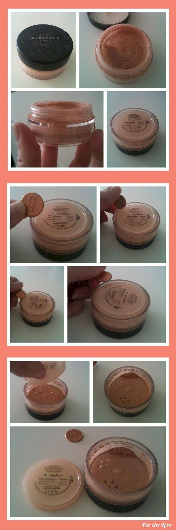 15. There's still some mineral concealer hidden at the bottom. Grab a penny and pry open the bottom to reach the rest!