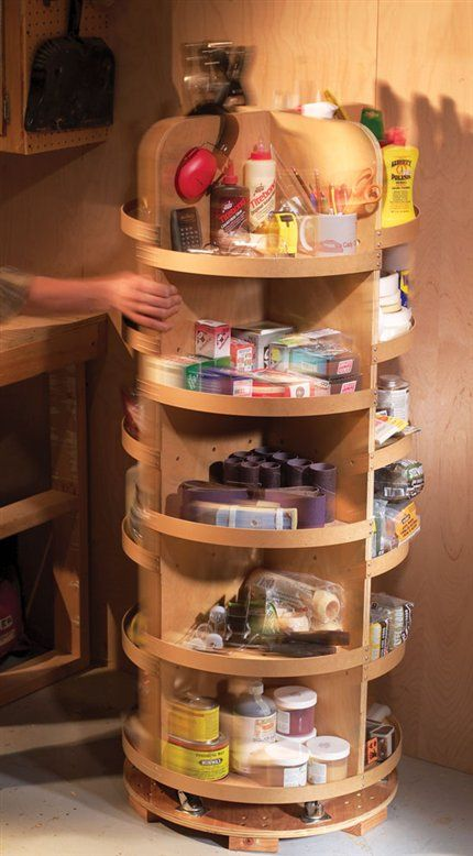 Small Parts Carousel - Popular Woodworking Magazine
