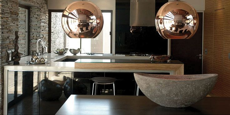 All things copper and brass are on-trend in 2014. Featuring the Caesarstone Kitchen Designer 2011 finalist design from blu_line's Phillip Richards