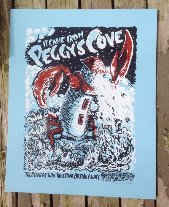 It Came from Peggys Cove Silkscreen Art Print by QuarrelsomeYeti