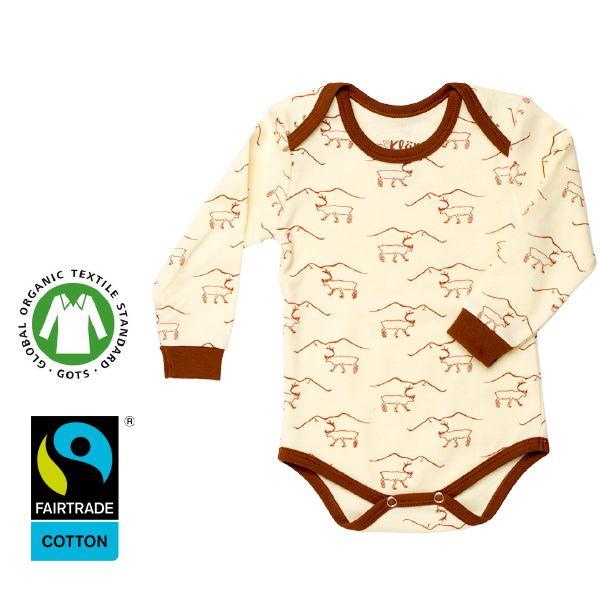 www.klappi.se #Ekologiskabarnkläder från #Lappland #norrland. #eko #ekoreko #ekologisk #svenskdesign #ekokläder #giftfritt #kläppi #klappi.se Product: #body #Reindeer #yellow #brown #Lapland. #eco #oekotex100 #lovefromlapland #swedishlapland #fairtrade #organiccotton #organic #scandinavian #schwedischen #organickidswear #kidsfashion #sustainablefashion #sustainable #gots #swedish #swedishdesign #swedishbrand