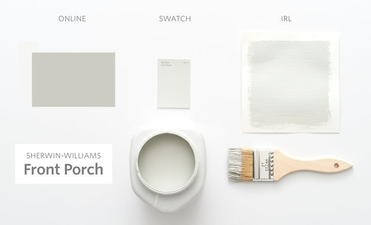 Front Porch by Sherwin-Williams - Color Cheat Sheet: The 15 Most Perfect Gray Paint Colors — The Modern Palette
