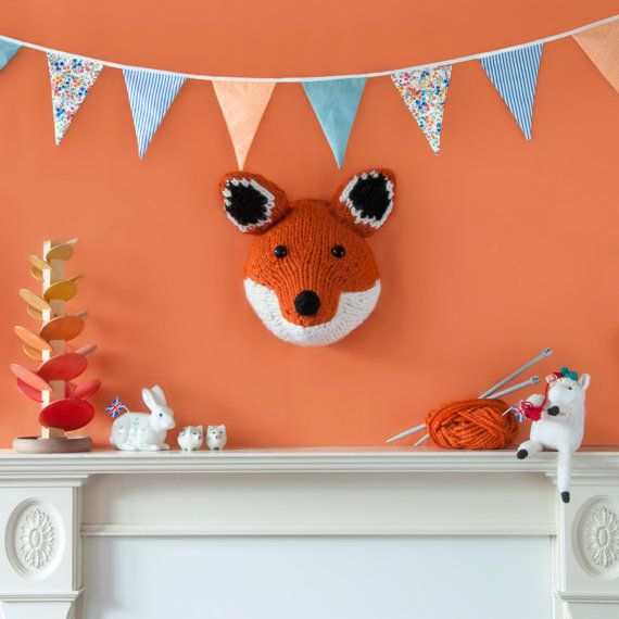 GIANT Fox Head Knitting Pattern  Make Your Own by sincerelylouise