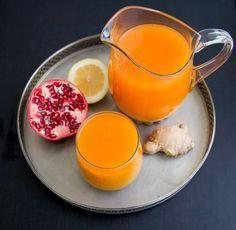 Ingefäradrink med citron och gurkmeja