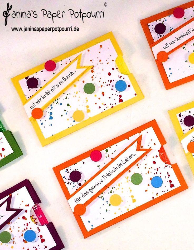 Kribbeln im Bauch und das gewisse Prickeln / Mitbringsel für Verliebte / Verpackung / Stampin' Up! / Gorgeous Grunge  www.janinaspaperpotpourri.de
