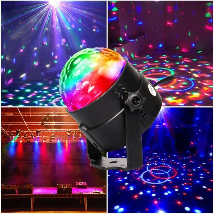 Hola a todos, que tal va el viernes?, aquí os traigo para estas fiestas una bola de discoteca. Puede ser controlado por voz y tiene iluminación automática. Y