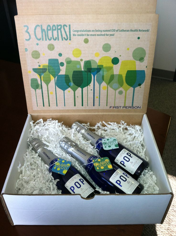 3 Cheers! Congratulations on your promotion! Gift box