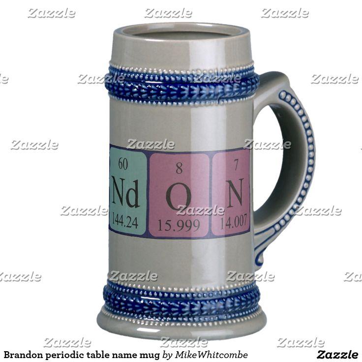 Brandon periodic table name mug