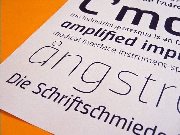 Font in use: Sinews PRO
