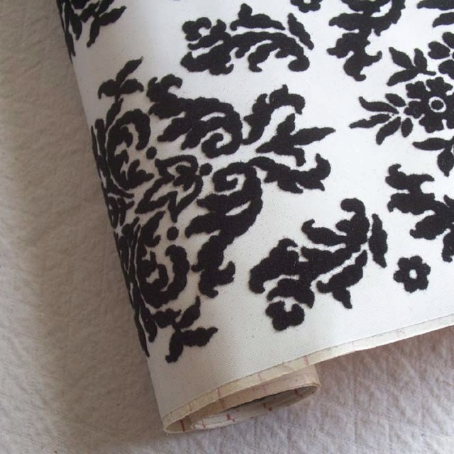 Black & white, Victorian pattern | Black Damask aka ...