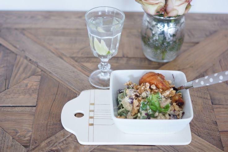 Kyllingsalat med pesto og honning (Fotballfrue)