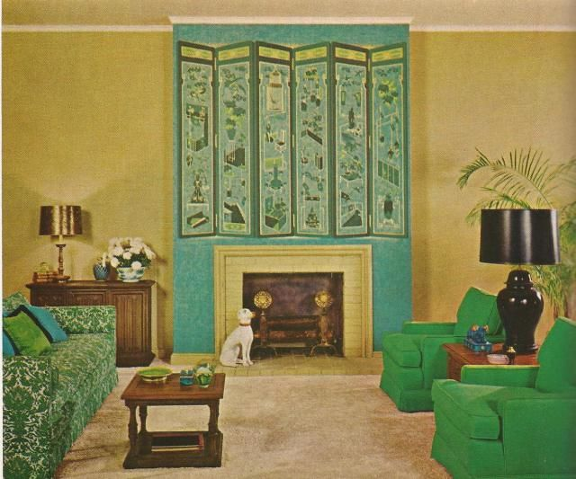 Vintage home decorating 1970s walls midcentury and for Home decor 1970s