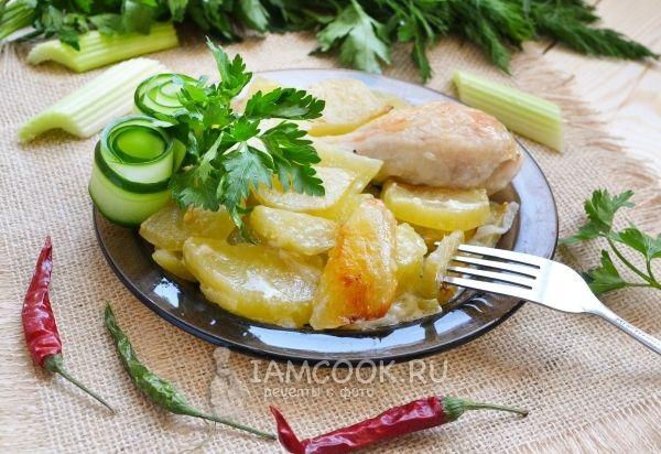 Фото курицы с сельдереем и картофелем в духовке