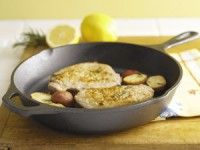 Baked Fish and Potatoes with Rosemary and Garlic Recipe | Epicurious.com