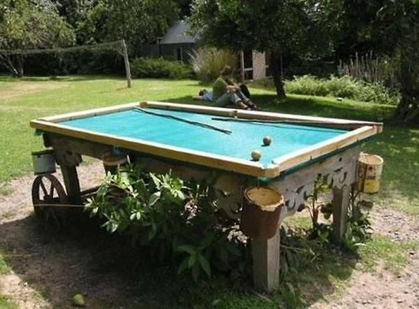Homemade Pool Table  - I'm thinking... back yard.  Not sure my wife's gonna go along with it though :)