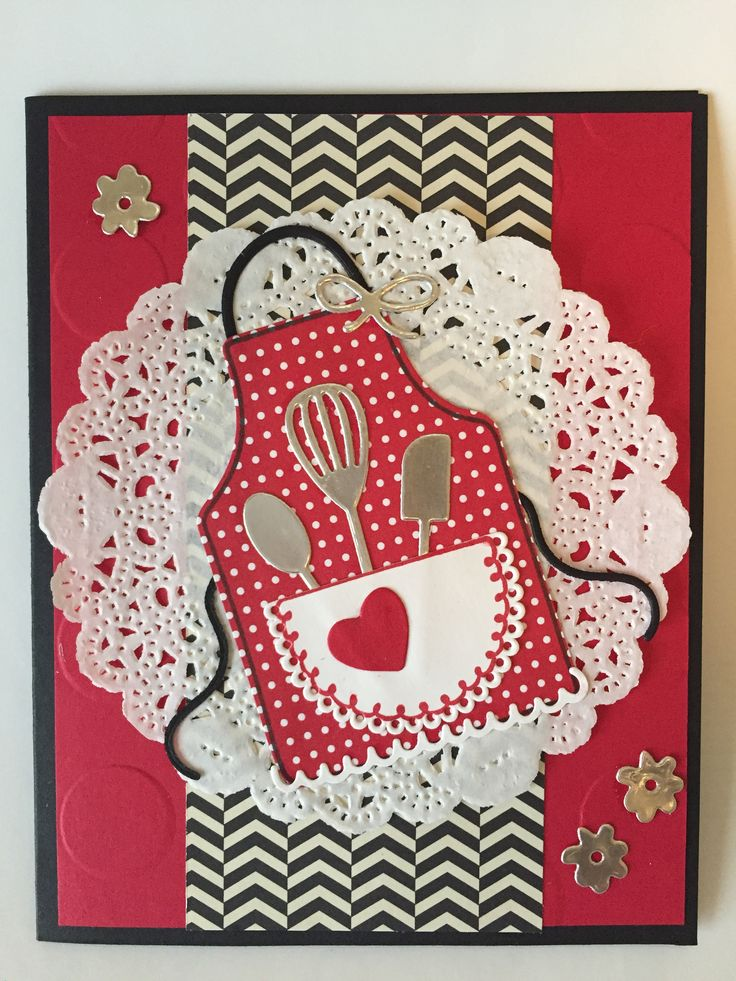Apron of Love, Stampin Up card.