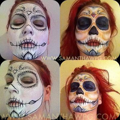 Sugar Skull: Winnipeg, Manitoba, Canada Visual Eye Candy  SamanthaWpg  (Samantha Ann Christianson)   I've been professional body painter. Make up Artist. Photographer